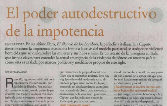 Entrevista a Iaia Caputo