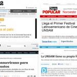 Los medios hablan del 1º Festival Latinoamericano de Cine de la UNSAM