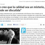 Entrevista a Richard Sennett en La Nación