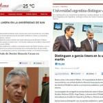 Medios argentinos y bolivianos se hacen eco de la visita de García Linera