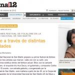 El 1º Festival de Folklore de la UNSAM en Página 12