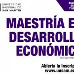 Se lanzó la Maestría en Desarrollo Económico