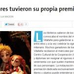 """Premios """"Javier Villafañe"""" a titiriteros de la UNSAM en La Nación"""