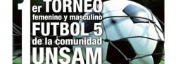 Anotate en el primer torneo de Fútbol 5 de la UNSAM
