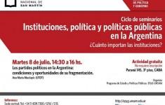"""Nuevo encuentro del ciclo """"Instituciones, políticas y políticas públicas en la Argentina"""""""