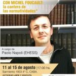 Suspensión del seminario a cargo del profesor invitado Paolo Napoli