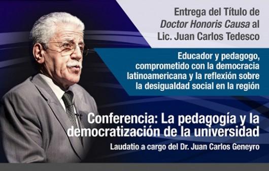 Juan Carlos Tedesco será doctor honoris causa de la UNSAM