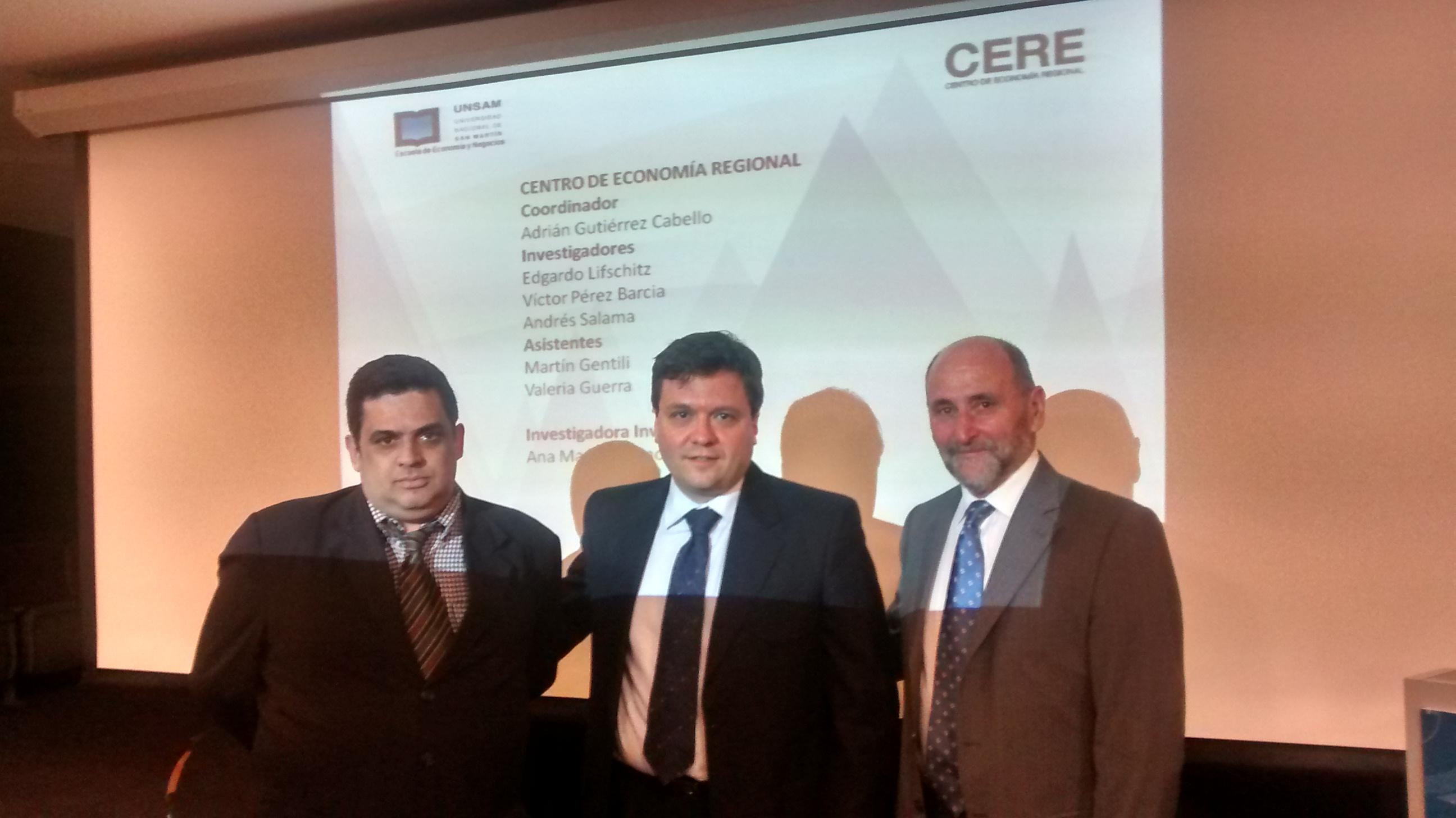 Andrés Salama, Adrian Gutiérrez Cabello y Edgardo Lifschitz