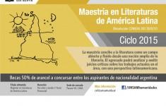 Flyer Literaturas de America latina 2