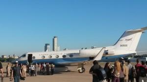 Avión C20 Gulfstream de la Misión UAVSAR