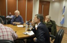Giuseppe Dusso, Carlos Greco y Claudio Ingerflom - der a izq