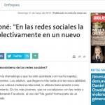 Entrevista a Fernando Peirone, en La Nación