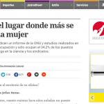 Laura Masson consultada sobre género, en Clarín