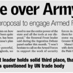 Paula Canelo consultada sobre el uso de las Fuerzas Armadas, en Buenos Aires Herald