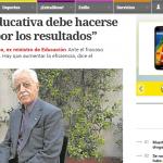 Entrevista a Juan Carlos Tedesco, en Clarín