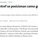 La UNSAM y la UNTREF como principales gestoras culturales, en La Nación
