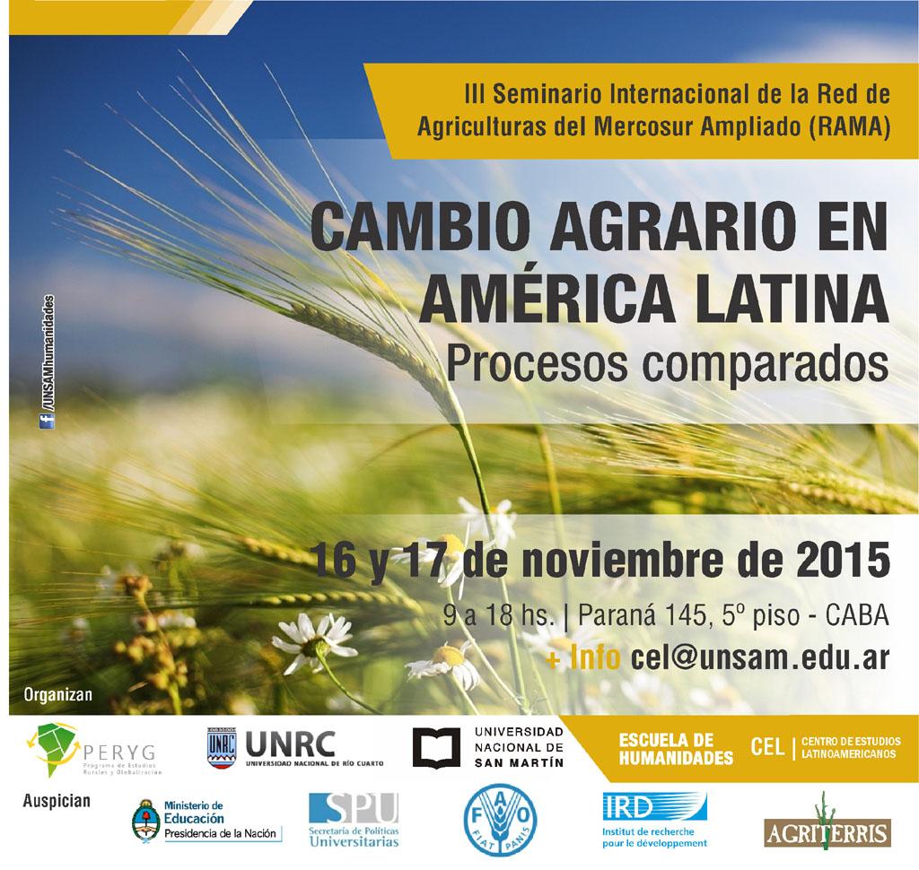 2015 CEL - Cambio agrario