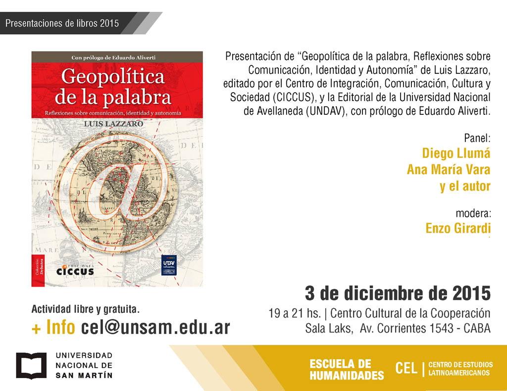 2015 presentacion libro CEL-1
