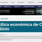 Columna de Ricardo Aronskind, en Tiempo Argentino