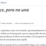 Columna de Salvador Gil sobre transporte sustentable en La Nación