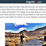 Hugo Nielson fue consultado sobre la quita de retenciones a las mineras, en Urgente 24