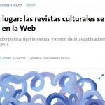 Martín Ale consultado sobre revistas culturales, en La Nación
