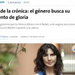 Federico Bianchini consultado por La Nación sobre la importancia de la crónica