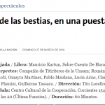 """Reseña de la obra """"Salvajada"""" en La Nación"""