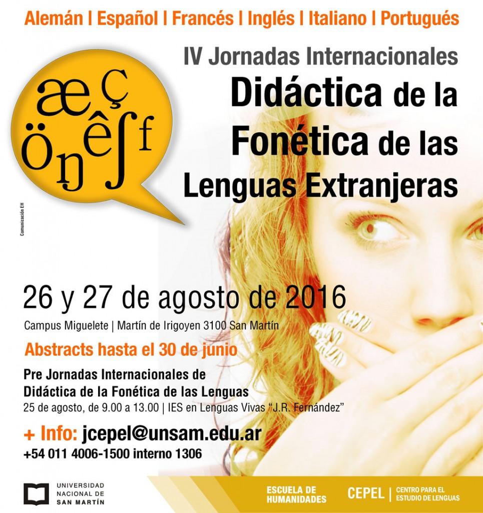 2016 Jornadas FONETICA flyer