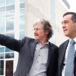 El ministro de Educación bonaerense se reunió con el rector Carlos Ruta y recorrió el Campus Miguelete