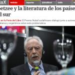 Clarín y Télam cubrieron la charla de J. M. Coetzee en la Feria de Libro