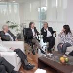 La ministra de Salud de Buenos Aires visitó la UNSAM y se reunió con el rector Carlos Ruta