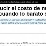 Salvador Gil escribió en Télam sobre ahorro de energía