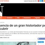 José Emilio Burucúa escribe para Revista Ñ de Clarín