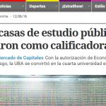 Clarín destaca a la UNSAM y a otras tres universidades como nuevas calificadora de riesgos