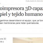 Nota en Perfil sobre la nueva bioimpresora 3D de la UNSAM