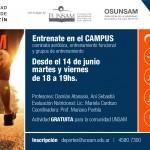 Entrenate en el Campus con UNSAM Corre