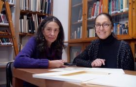 De izq. a der.: Nora Altrudi y Laura Malosetti Costa