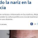 Entrevista a Alejandro Grimson en La Capital de Rosario