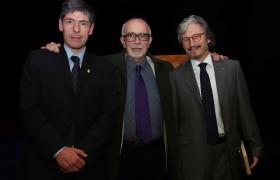 Juan Manuel Abal Medina, Marcelo Cavarozzi y Carlos Ruta
