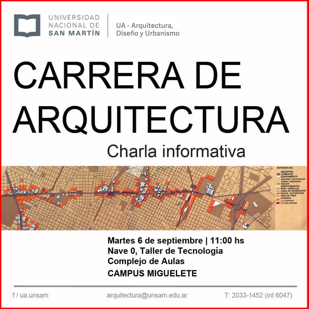 Pr ximos eventos charla informativa de la carrera de for Carrera de arquitectura