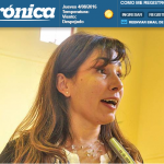 Entrevista a Claudia Cadenazzo en Diario Crónica de Comodoro Rivadavia