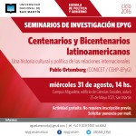 Pablo Ortemberg expondrá en el próximo seminario de investigación