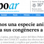 Entrevista a Sebastián Lipina en Tiempo Argentino y en Perfil