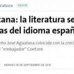 Nota sobre la Cátedra Coetzee en <i>La Nación</i>