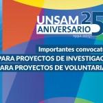 Importante convocatoria del Rectorado para proyectos de investigación y voluntariado