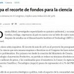<i>La Nación</i> consultó a Galo Soller Illia sobre el recorte presupuestario en ciencia