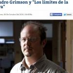 Entrevista a Alejandro Grimson en <i>Diario Castellanos</i>
