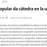 Nota sobre la Cátedra Dino Saluzzi en <i>La Nación</i>