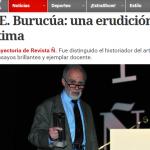 Nota en <i>Clarín</i> sobre la entrega del Premio Trayectoria de Revista Ñ a José Emilio Burucúa